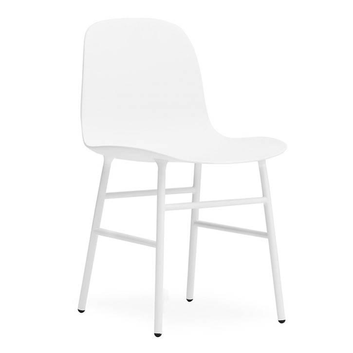 normann copenhagen stuhl form wei kunststoff stahl 48x52x80cm. Black Bedroom Furniture Sets. Home Design Ideas