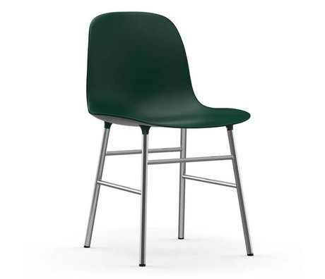 Normann Copenhagen forma de silla de plástico verde de cromo 48x52x80cm
