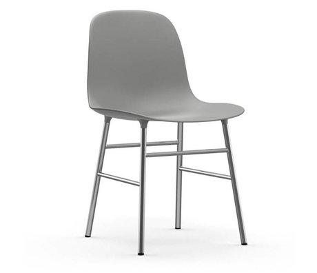 Normann Copenhagen Chaise forme plastique gris chrome 48x52x80cm