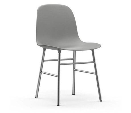 Normann Copenhagen modulo di sedia di plastica grigio cromato 48x52x80cm