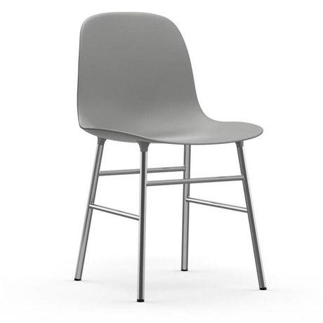 Normann Copenhagen Sandalye formu gri plastik krom 48x52x80cm