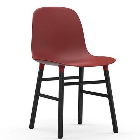 Normann Copenhagen kırmızı plastik ahşap 48x52x80cm Başkanı formu