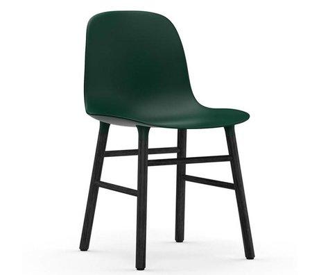 Normann Copenhagen forma sedia verde legno 48x52x80cm plastica nera