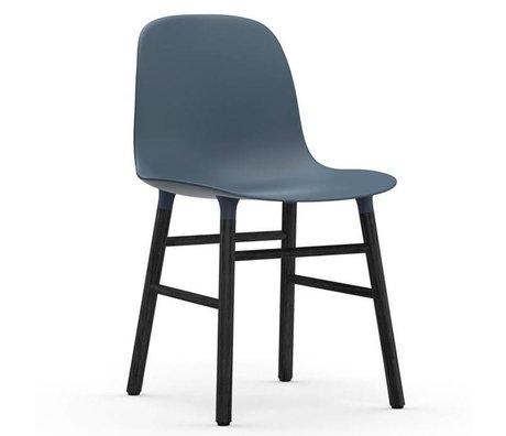 Normann Copenhagen forma de silla de plástico negro azul 48x52x80cm madera