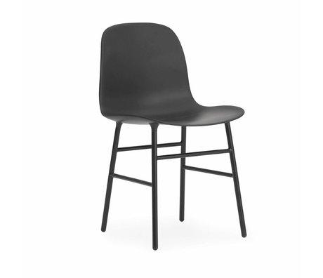 Normann Copenhagen forma de silla de madera 48x52x80cm plástico negro