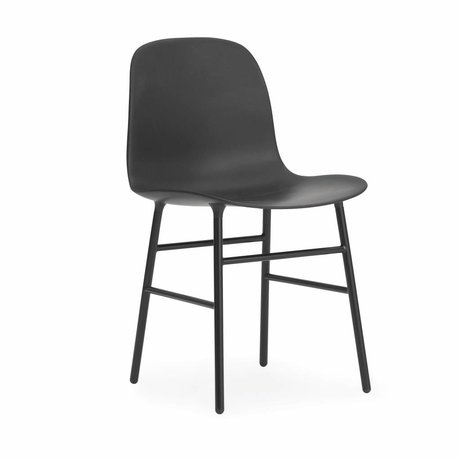 Normann Copenhagen Chair shape black plastic wood 48x52x80cm