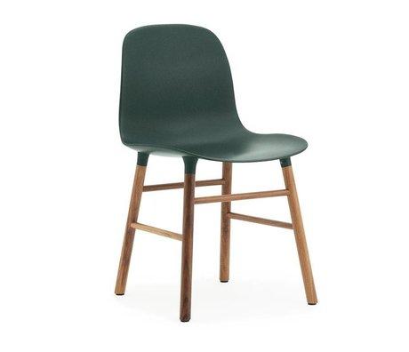 Normann Copenhagen Chaise forme plastique bois vert brun 48x52x80cm
