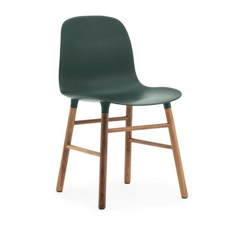 Normann Copenhagen Stol formular grøn brun plast tømmer 48x52x80cm