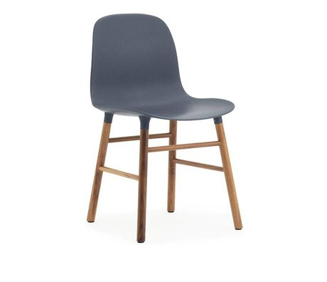 Normann Copenhagen Chair shape blue brown plastic wood 48x52x80cm