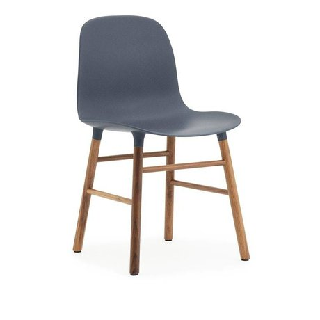 Normann Copenhagen forma de silla azul marrón 48x52x80cm madera plástica