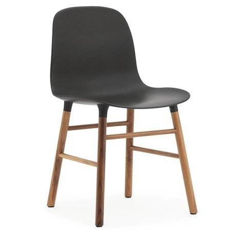 Normann Copenhagen Chair shape black brown plastic wood 48x52x80cm