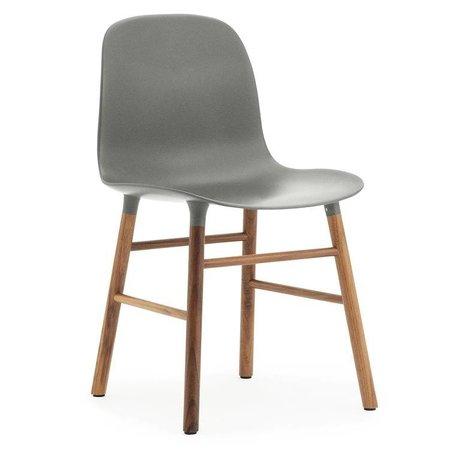 Normann Copenhagen Stuhl Form grau braun Kunststoff holz 48x52x80cm