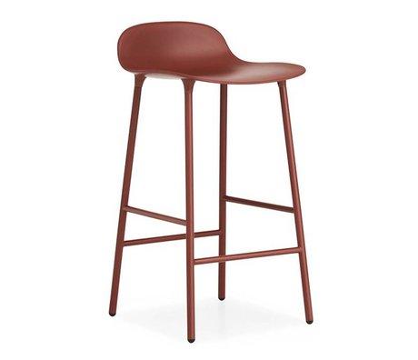 Normann Copenhagen acciaio 44x44x87cm plastica rosso forma sgabello