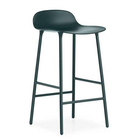 Normann Copenhagen Bar chair shape green plastic steel 44x44x87cm