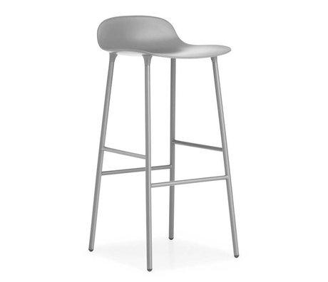 Normann Copenhagen Barstuhl Form grau Kunststoff Stahl 44x44x87cm