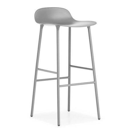 Normann Copenhagen Bar chair shape gray plastic steel 44x44x87cm