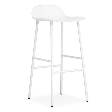 Normann Copenhagen Bar chair shape white plastic steel 44x44x87cm
