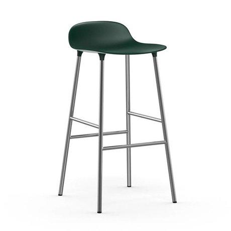 Normann Copenhagen forma sgabello cromo verde plastica 53x45x87cm