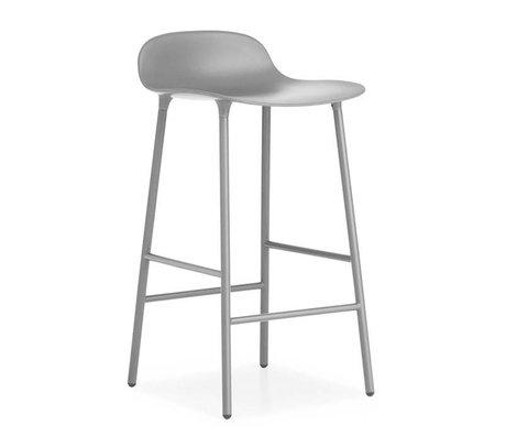 Normann Copenhagen Bar chair shape gray plastic steel 42,5x42,5x77cm