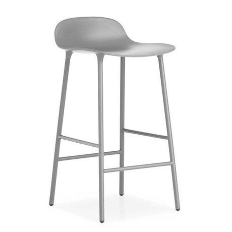 Normann Copenhagen Tabouret forme plastique gris acier 42,5x42,5x77cm