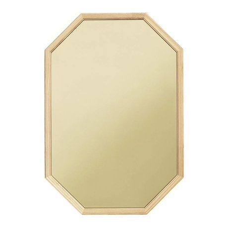 Normann Copenhagen Wall mirror Lust green Glass mirror wood L 55x2,5x80cm