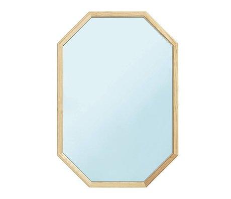 Normann Copenhagen Miroir mural comme le bois miroir en verre bleu L 55x2,5x80cm