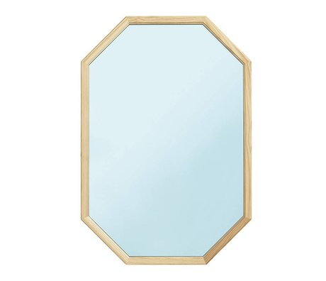 Normann Copenhagen Wandspiegel Lust blau Glasspiegel holz L 55x2,5x80cm
