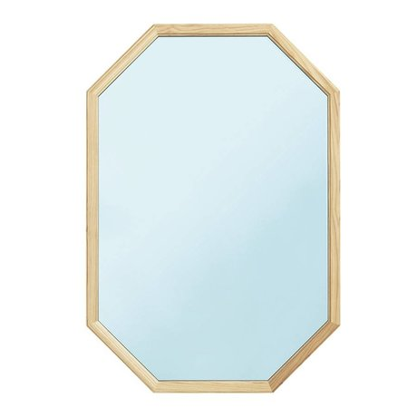 Normann Copenhagen mavi cam ayna ahşap L 55x2,5x80cm gibi Duvar aynası