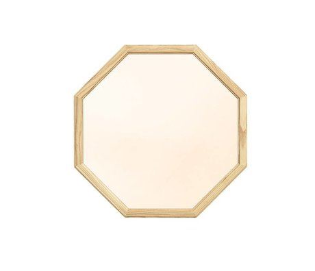 Normann Copenhagen Wall mirror Lustgold Glasspiegel wood M 50x2,5x50cm