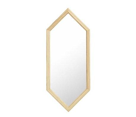 Normann Copenhagen Specchio da parete come specchio di vetro d'argento di legno S 29x2,5x70cm