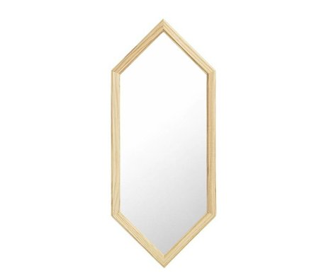Normann Copenhagen Wall mirror Lust silver Glass mirror wood S 29x2,5x70cm