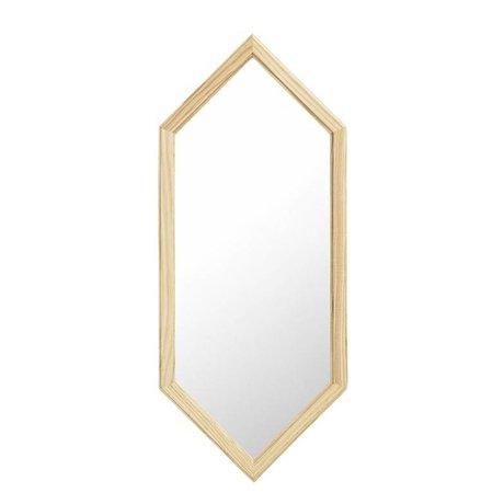 Normann Copenhagen bois miroir mural comme miroir en verre argenté S 29x2,5x70cm