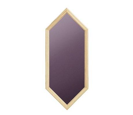 Normann Copenhagen Specchio da parete come vetro viola specchio in legno 29x2,5x70cm