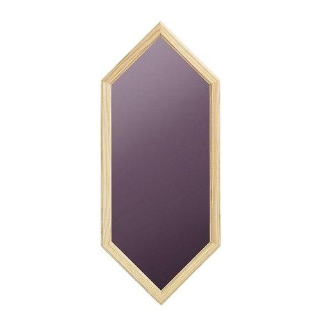 Normann Copenhagen espejo de pared de cristal violeta como 29x2,5x70cm madera espejo