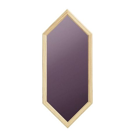 Normann Copenhagen Wall mirror Lust lila Glass mirror wood 29x2,5x70cm
