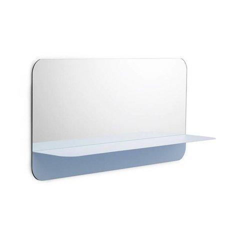 Normann Copenhagen Miroirs Horizon lumière bleue 80x40cm plaque d'acier de verre