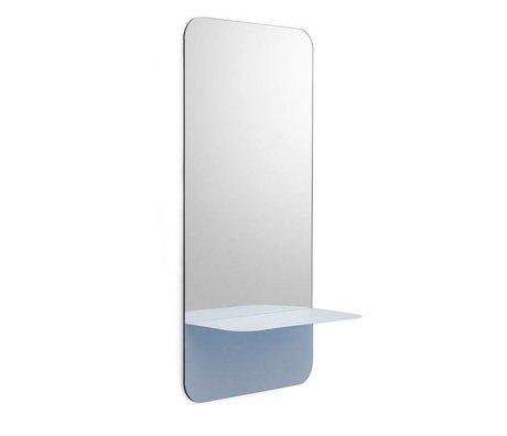 Normann Copenhagen Aynalar Horizon dikey açık mavi cam levha çelik 40x80cm