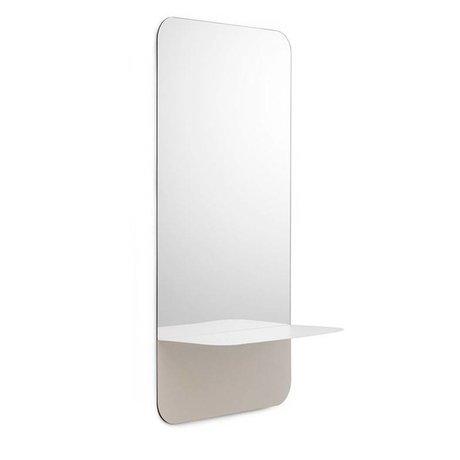 Normann Copenhagen Miroirs Horizon acier en verre blanc plaque verticale 40x80cm