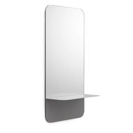 Normann Copenhagen Specchi Horizon specchio verticale grigio 40x80cm in acciaio vetro