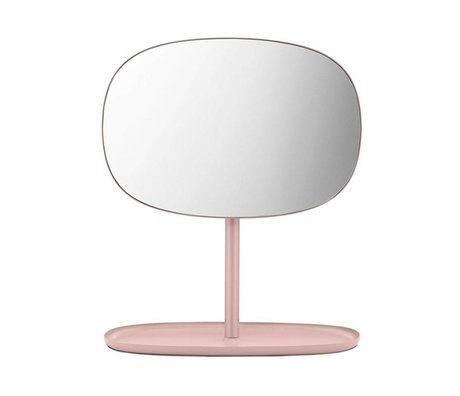 Normann Copenhagen Mirror flip pink glass mirror steel 28x19,5x34,5cm