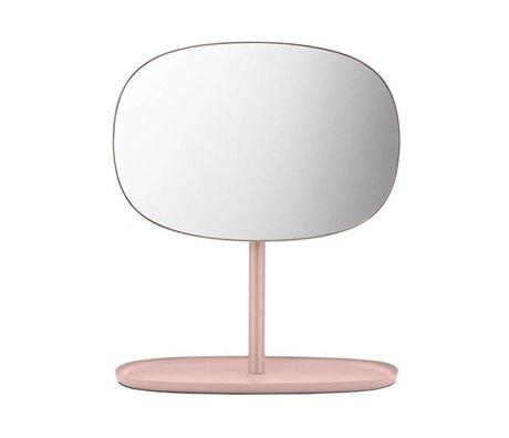 Normann Copenhagen Specchi capovolgere vetro rosa 28x19,5x34,5cm in acciaio a specchio