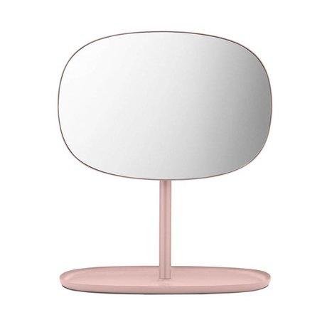 Normann Copenhagen Flip pembe cam ayna çelik 28x19,5x34,5cm Aynalar