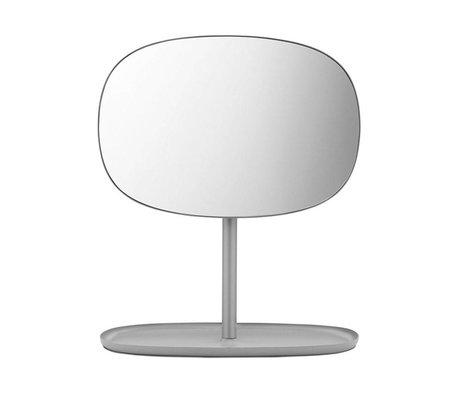 Normann Copenhagen Tongues Mirror Mirror gris 28x19,5x34,5cm en acier