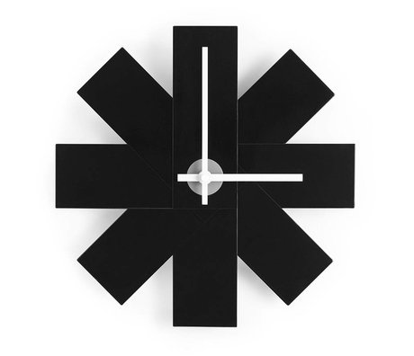 Normann Copenhagen Duvar Saati İzle me siyah alüminyum Ø28,5cm