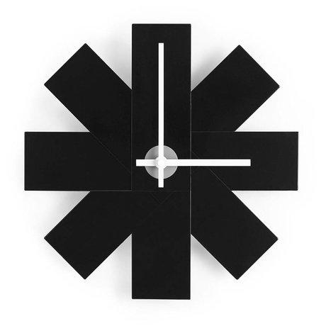 Normann Copenhagen Reloj de pared del reloj me Ø28,5cm de aluminio negro