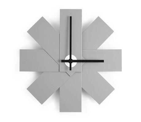 Normann Copenhagen Duvar Saati İzle me gri alüminyum Ø28,5cm