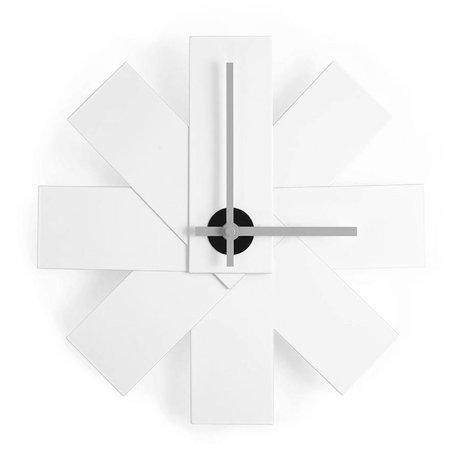 Normann Copenhagen Reloj de pared del reloj me Ø28,5cm aluminio blanco