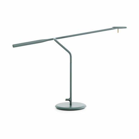 Normann Copenhagen lampada da tavolo flusso 58x16x42cm metallo verde
