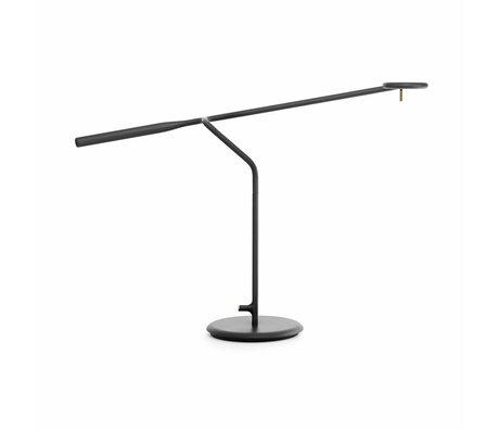 Normann Copenhagen Lámpara de mesa Flow 58x16x42cm de metal negro