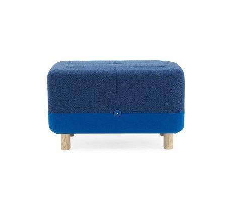 Normann Copenhagen Pouf Sumo blau Stoff Holz 65x45x40cm
